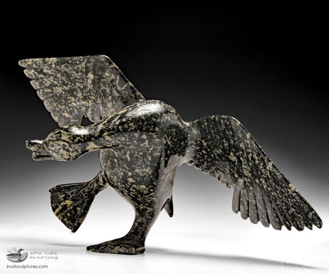 "15"" Dancing Goose by Attachie Peter (1973 - 2009)"