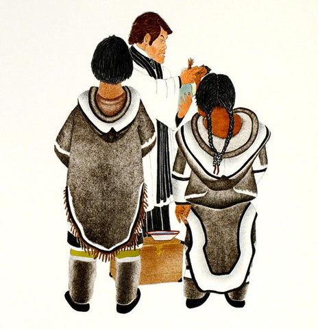 1992 THE BAPTISM by Kananginak Pootoogook