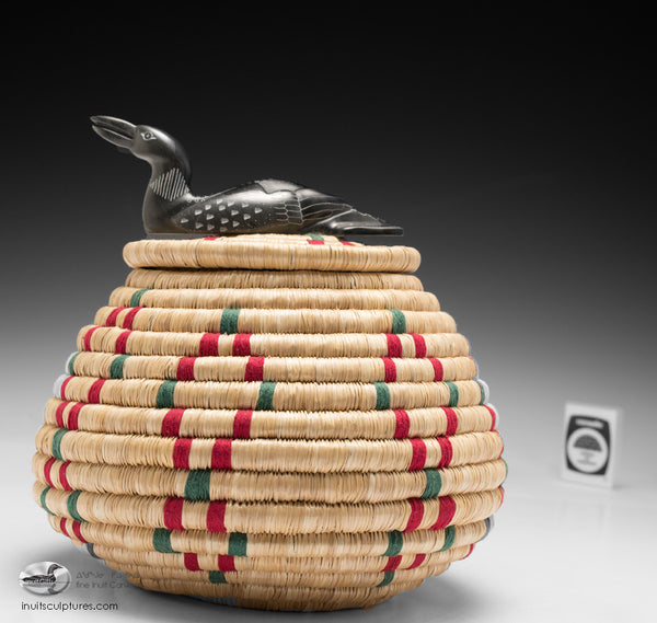 Loon on Basket by Alice Kattuk