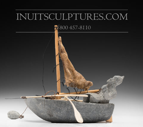 "7"" Traditional Fishing Boat by John Marie Ivalutinar"