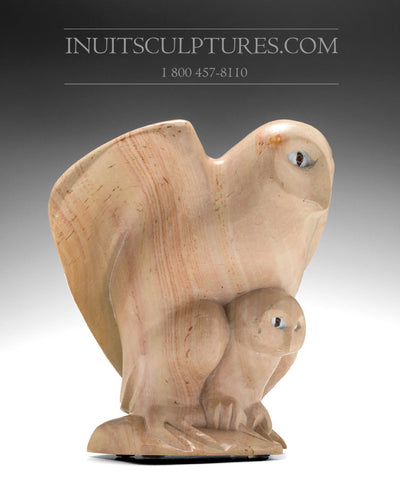 "RESERVED** 12"" Owl by Goota Ashoona and Bob Kussy"