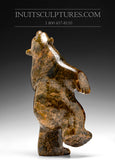 "RESERVED** 8"" Brown Dancing Bear by Abraham Simeonie"
