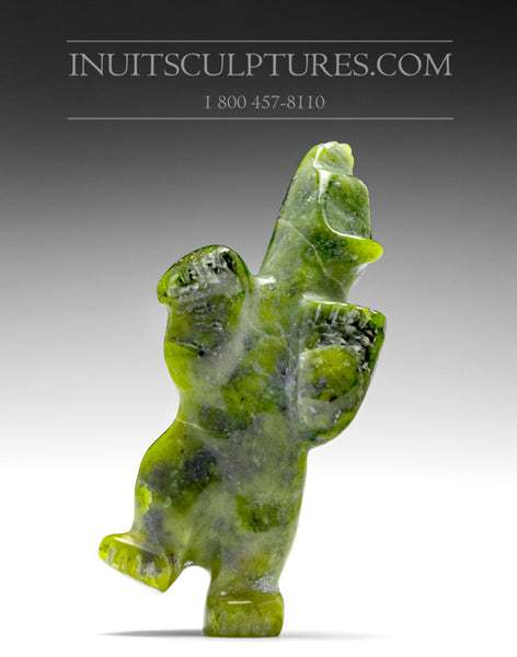 "3.5"" Green Dancing Bear by Johnny Papigatook"