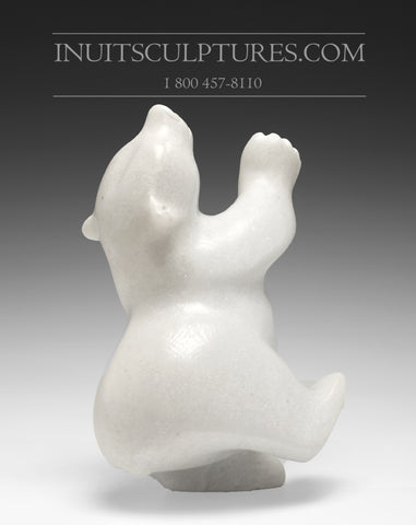"11"" Dancing White Bear by Samonie Shaa"