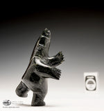 "4.5"" Dancing Dark Bear by Abraham Simonie"
