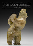 "RESERVED 10"" Striking Dancing Bear by Allen Oshutsiaq"