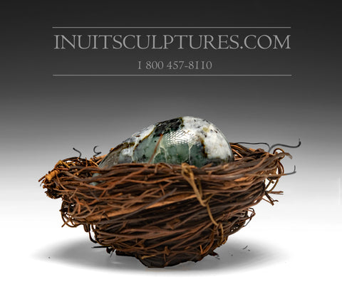Ptarmigan Egg and Nest by Mark Pitseolak