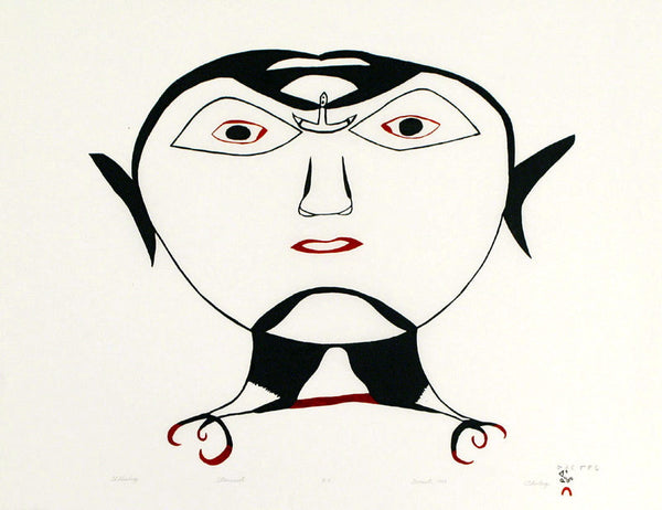 1999 ULLULIQ (HEAD WITH ULU) by Ohotaq Mikkigak