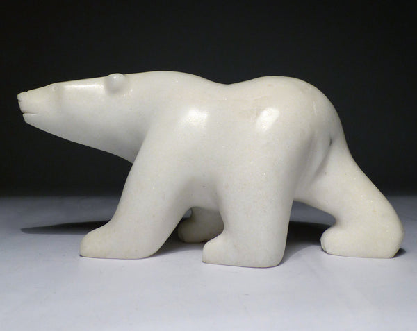 "8"" White Walking Bear by Joanie Ragee"