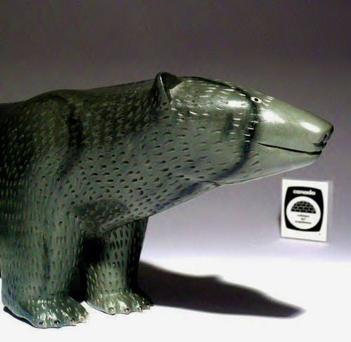 "12"" Walking Bear with Fur and Claws by Famous Jimmy Iqaluq"