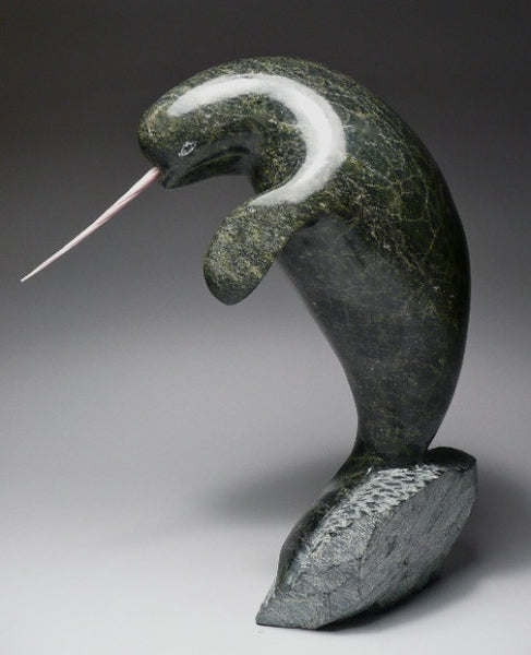 "8"" Dancing Narwhal by Suati Qimirpik – Inuit Sculptures ..."