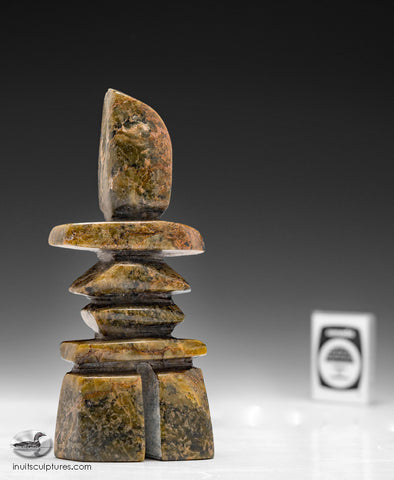 "5"" Beautiful Inukshuk by Roger Oshutsiaq"
