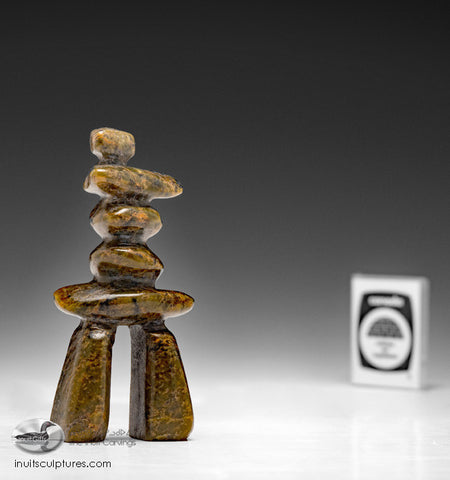 "4"" Beautiful Inukshuk by Ning Shaa"