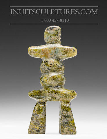 "3.5"" Gold Inukshuk by Ning Shaa"