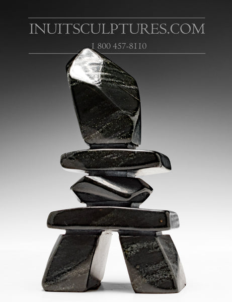 "6"" Black Inukshuk by Jordan Kelly"