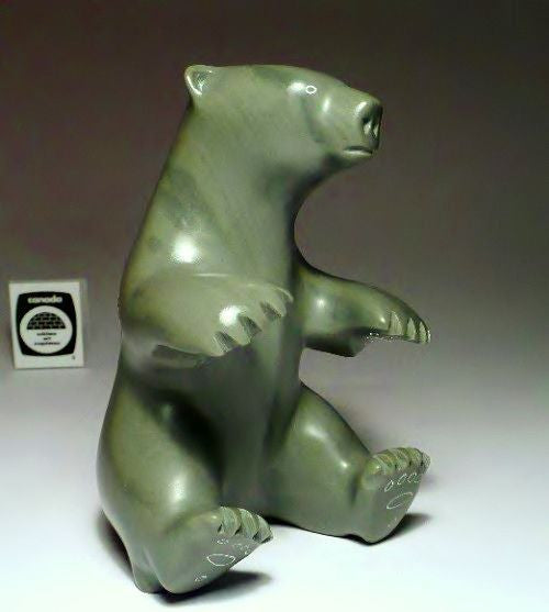 "6"" Sitting Bear by Famous Isaac Sala"