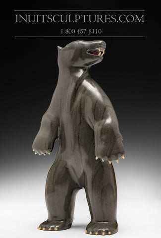 "10"" Bear with Inlay Claws and teeth Famous Jimmy Iqaluq"