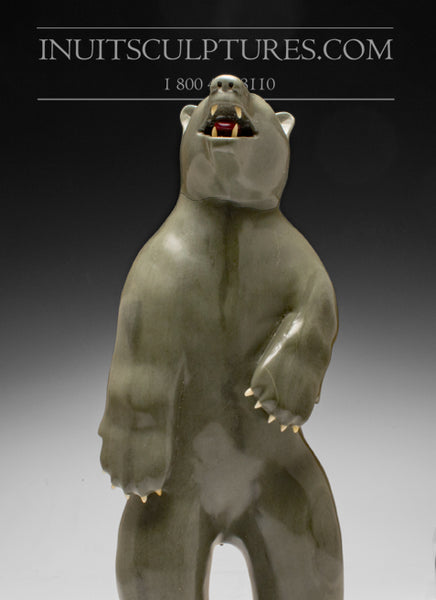 "14"" Bear with ""Red Tongue"" Famous Jimmy Iqaluq"