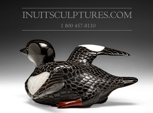 "8.5"" Exhibition Loon with Red Feet by Jimmy Iqaluq"