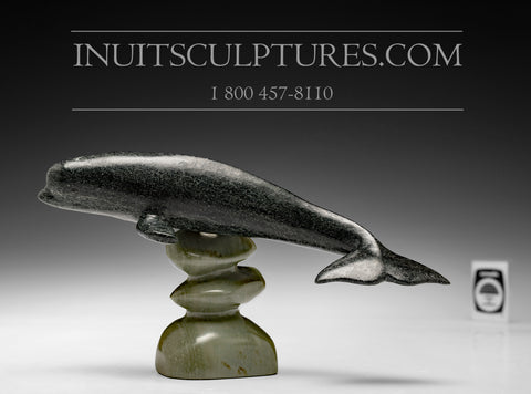 "**RESERVED** 7"" Whale by Famous Jimmy Iqaluq"