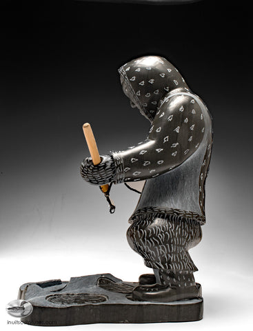 "1st Place Prize Winning Piece - Winter Festival Povungnituk 2017 - 12.5"" Hunter by Famous Jimmy Iqaluq"