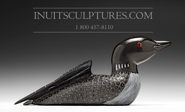 RESERVED** Loon with Inlay Eyes by Jimmy Iqaluq