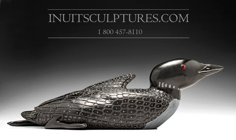 "16"" Black Loon by Jimmy Iqaluq"
