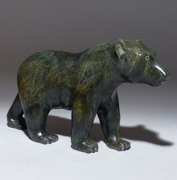"10"" Walking Bear with Insert Eyes by Joamie Aipeelee"
