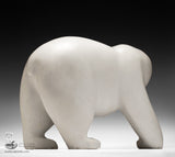 RESERVED** Massive 210 lbs Walking Bear Exhibition Piece by Joe Jaw Ashoona