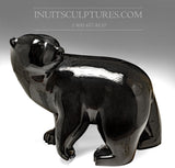 RESERVED** Masterpiece 300 lbs Black Walking Bear by Joe Jaw Ashoona