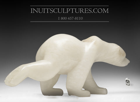 "30"" Running Bear Exhibition Piece by Joe Jaw Ashoona"