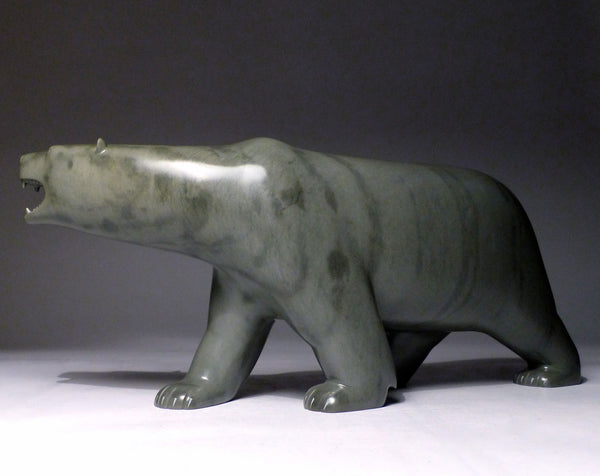 "13"" Walking Bear with Teeth by Johnassie Ippak"