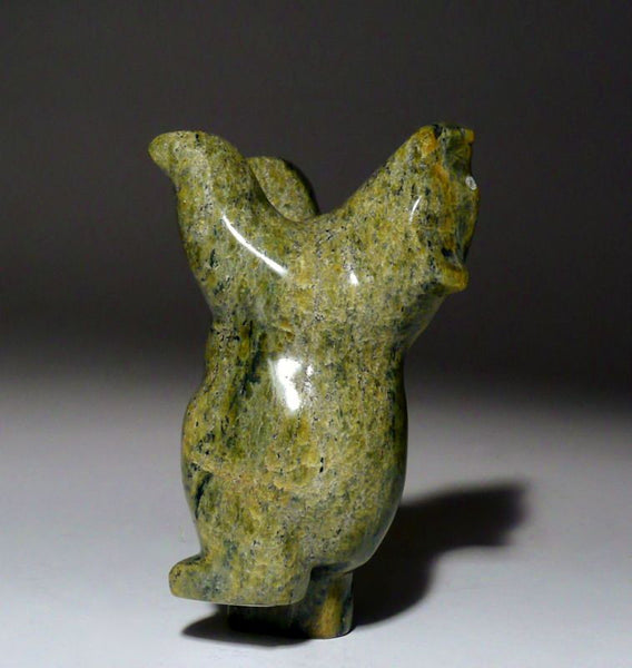 "4.5"" Green Dancing Bear by Johnny Papigatook"
