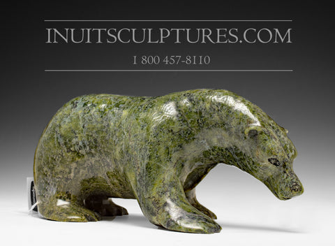 "12"" Green Walking Bear by Kellypalik Etidloie"