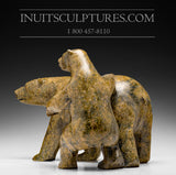 "15"" Mother Bear with Cub by Famous Kooyoo Peter"