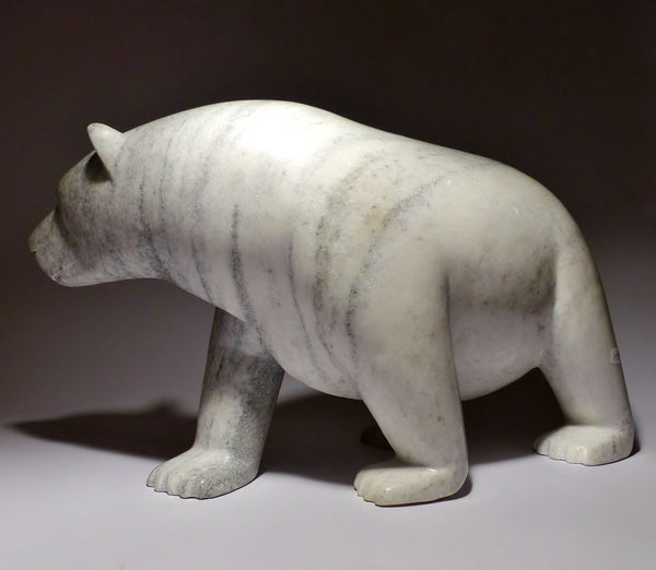 "19"" Masterpiece Marble Graceful Bear by Famous Kooyoo Peter"