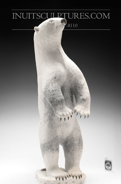 "23"" Standing Bear with Claws by the Late World Famous Lukie Airut (1946 - 2018)"