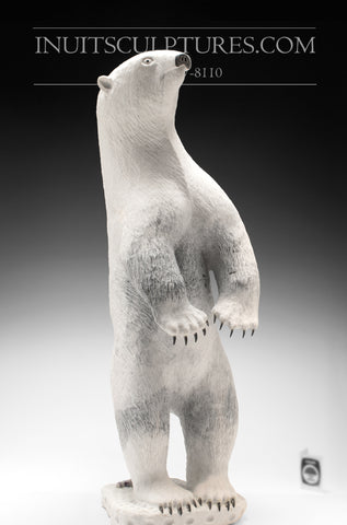 "Copy of 23"" Standing Bear with Claws by the Late World Famous Luke Airut (1946 - 2018)"