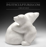 "17"" Mother bear hugging her cub by World Famous Manasie Akpaliapik"