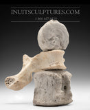 "8"" Inuk riding on Wolf by World Famous Manasie Akpaliapik"
