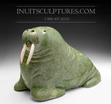 "60 Lbs - 18"" Green Walrus by World Famous Manasie Akpaliapik"