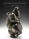 "10"" Dark Dancing Bear by Markoosie Papigatok"
