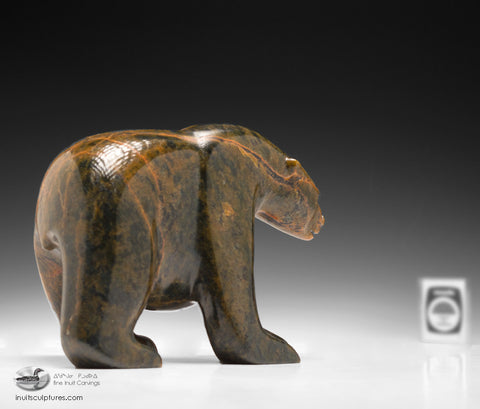 "7"" Walking Bear by Matt Alariaq"