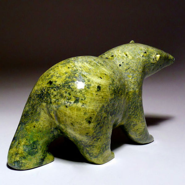 "7.5"" Green Walking Bear by Noah Kelly"
