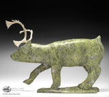 "17"" Graceful Caribou by Late Noo Atsiaq"