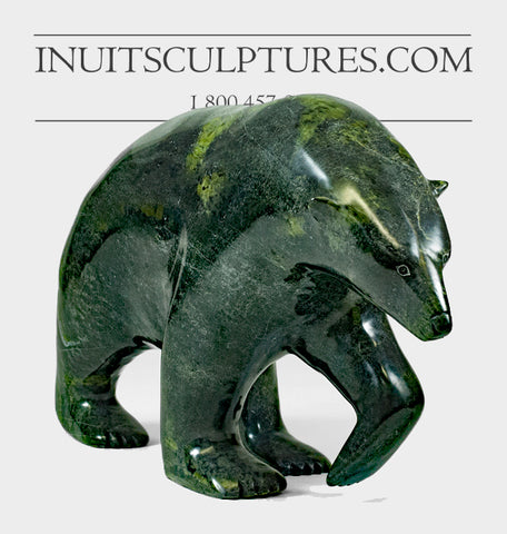 "Gorgeous Green 19"" Walking Bear by Nuna Parr"