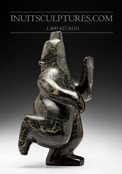 "10"" - 10 lbs Dancing Bear by Palaya Qiatsuq"