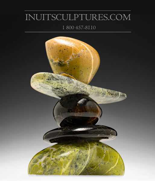 "RESERVED** 9"" Masterful Inukshuk by Paul Bruneau"