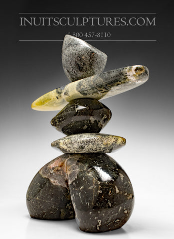 "14"" Masterful Inukshuk by Paul Bruneau"