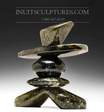 "9"" Dark Inukshuk by Paul Bruneau"